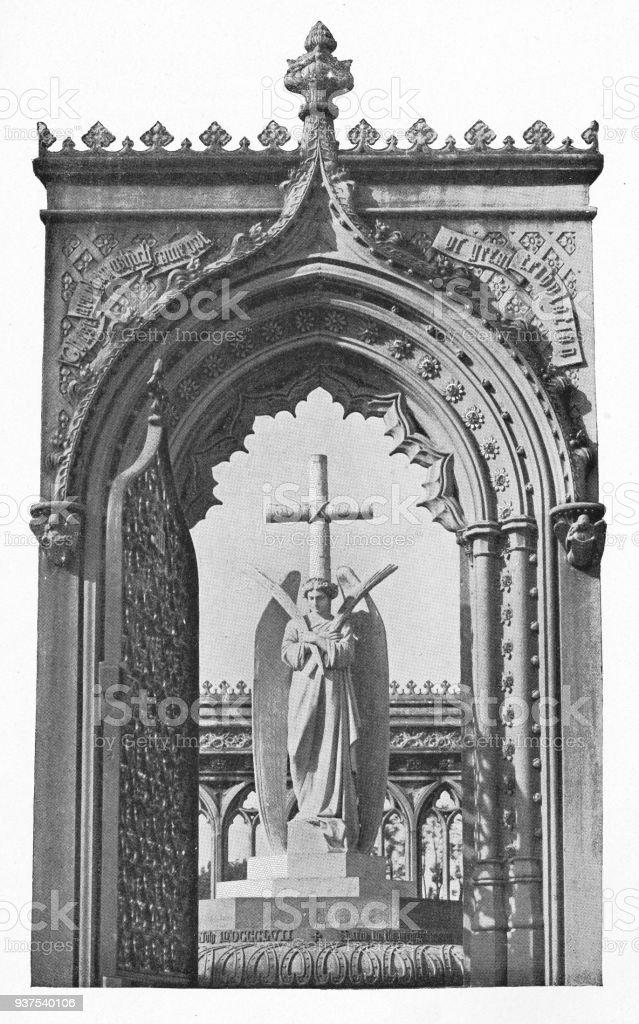 Memorial Well in Cawnpore, India - British Era stock photo