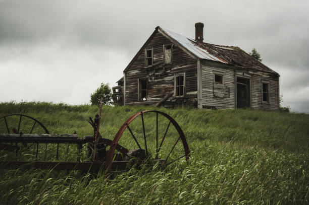 Memories Lost A long abandoned farm house in rural Nova Scotia. derelict stock pictures, royalty-free photos & images