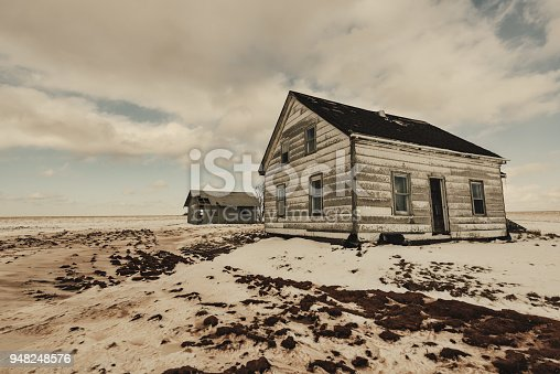 A long abandoned farm house in rural Nova Scotia.