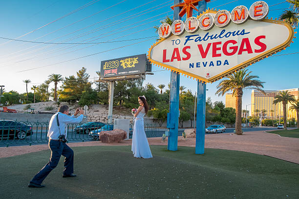 Memories of a Vegas wedding stock photo