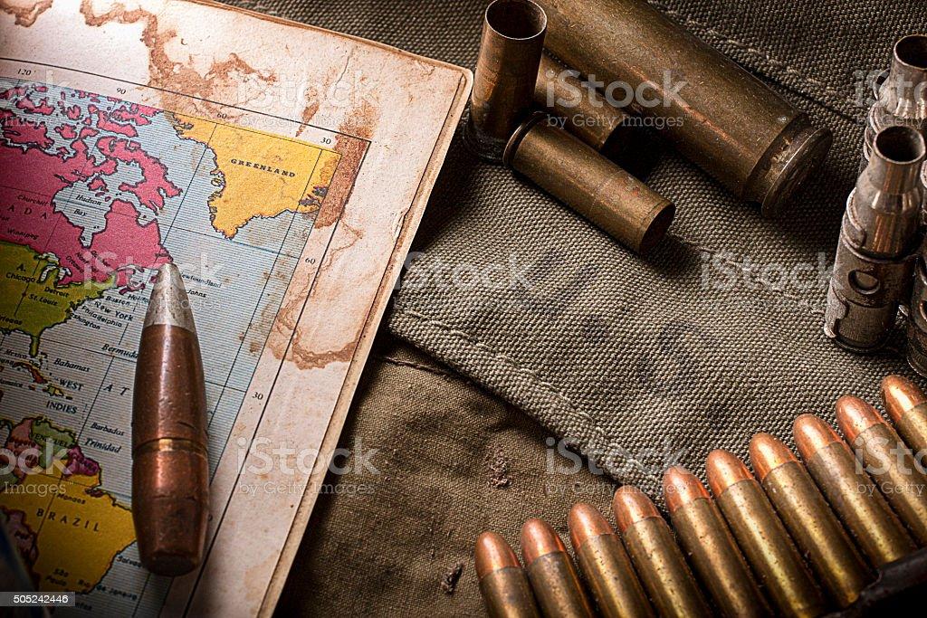 Memories of war stock photo