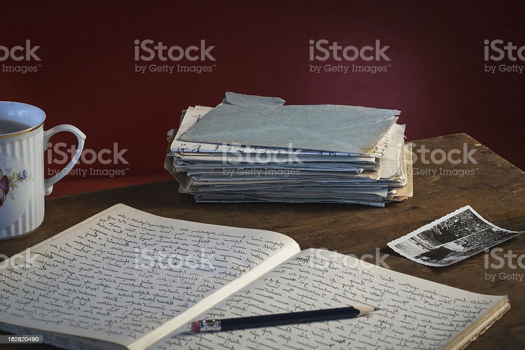 Memories , old letters, diary royalty-free stock photo