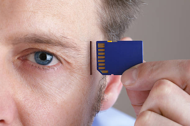 Memory and brain upgrade stock photo