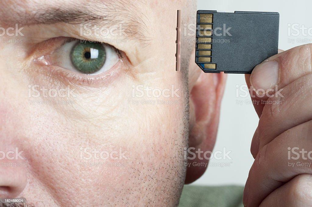 Memory Card Brain stock photo