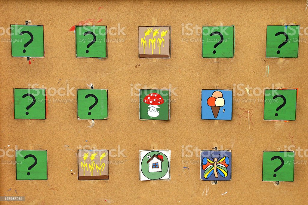 memory game stock photo