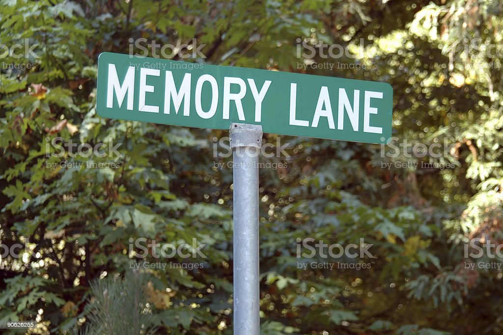 Memory Lane stock photo