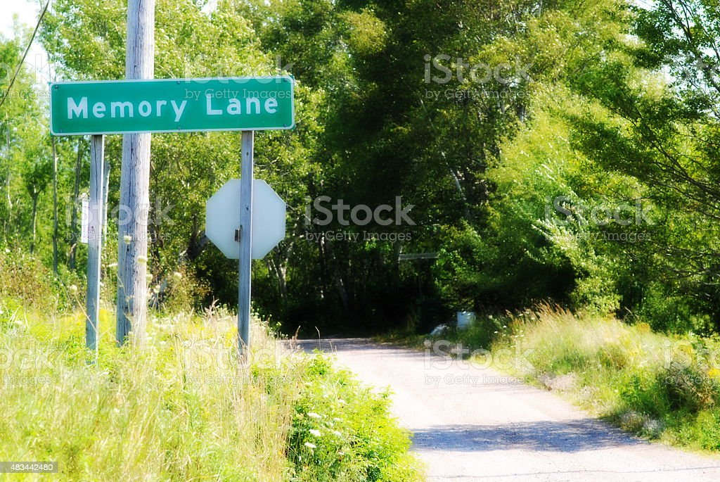 Memory Lane Street Sign stock photo