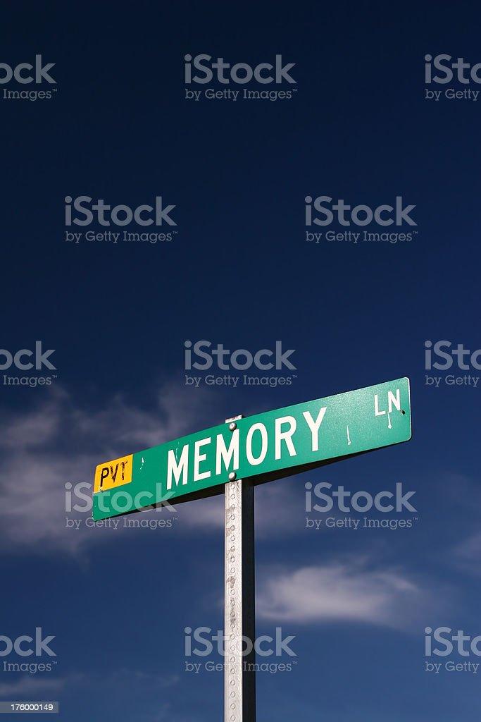 Memory Lane - w/Clipping Mask royalty-free stock photo