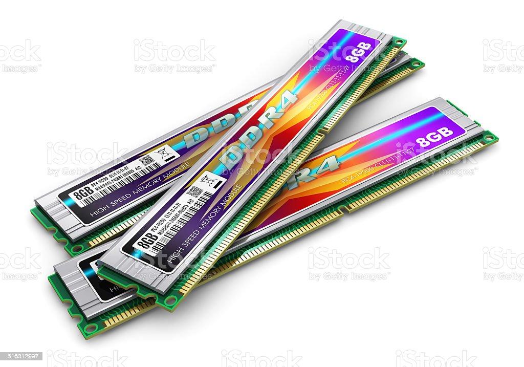 DDR4 memory modules stock photo
