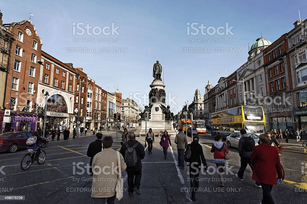 Memory of Daniel O'Connell in Dublin stock photo