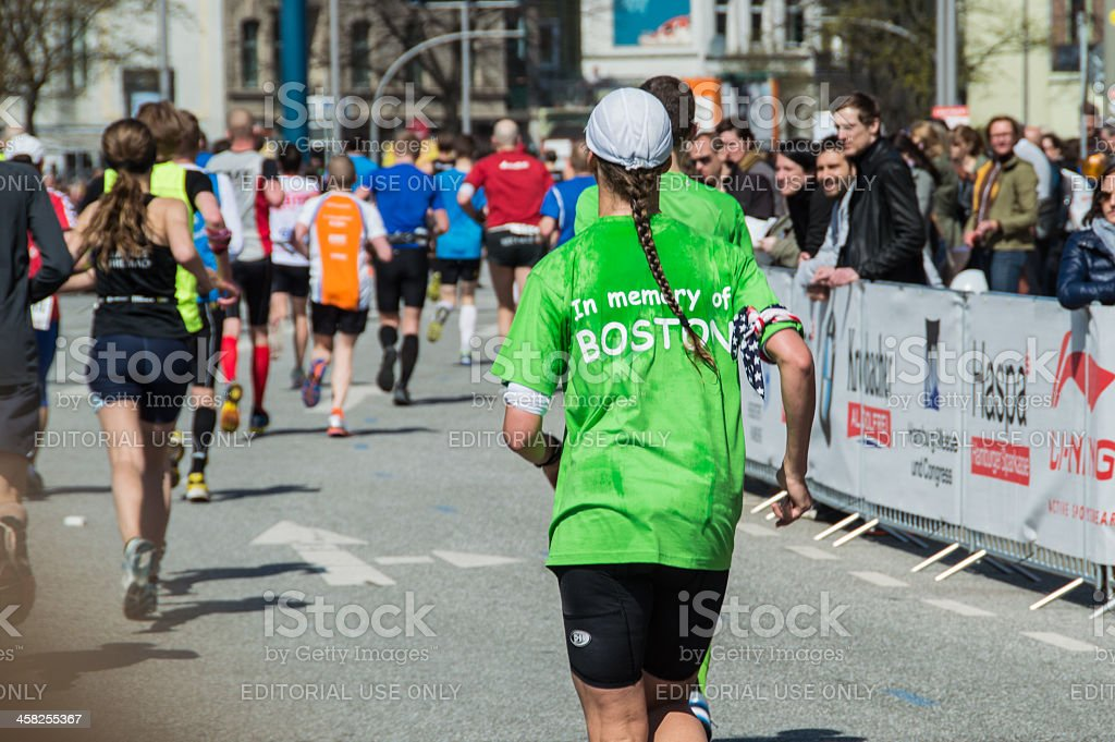 Memory run for the victims of Boston Marathon 2013 stock photo