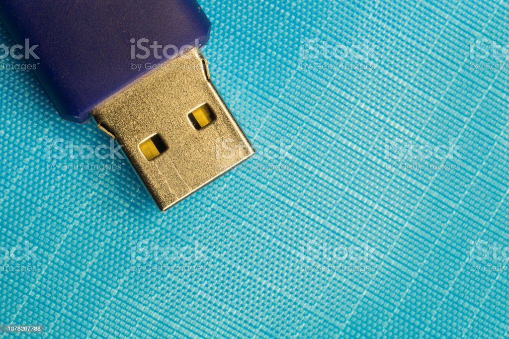 Memory stick isolated on blue background