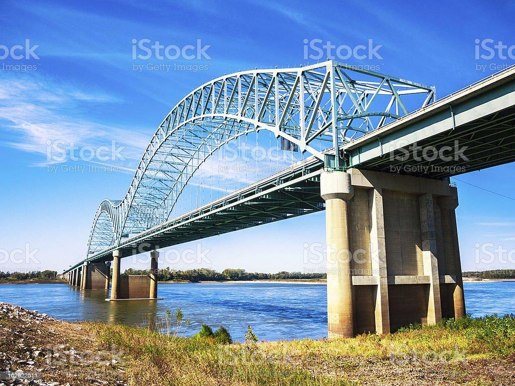 Memphis, Bridge across Mississippi River stock photo