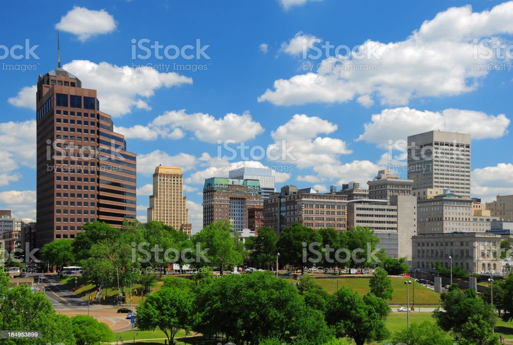 Memphis downtown skyline and clouds stock photo