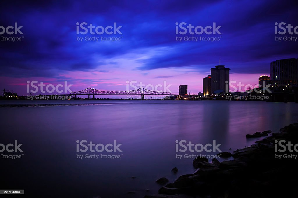 Memphis Downtown Skyline, at Dawn, USA stock photo
