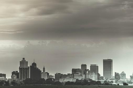 Memphis Downtown Vintage Skyline, USA