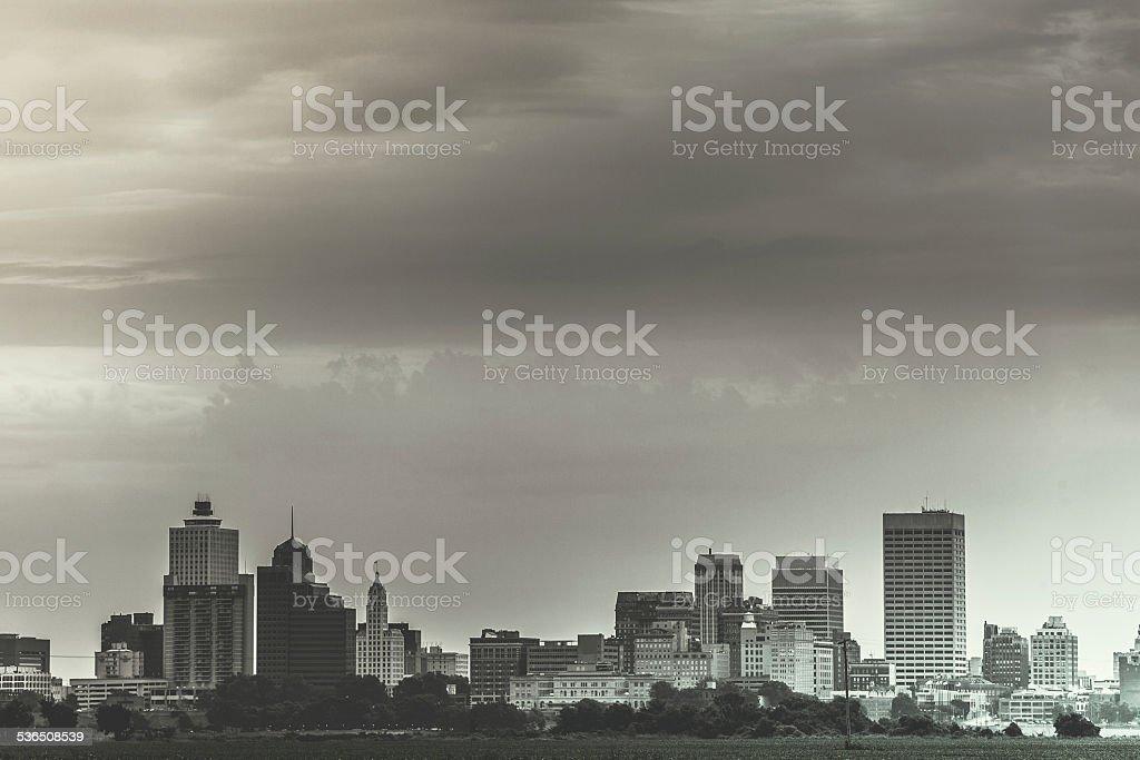 Memphis Downtown Vintage Skyline, USA stock photo