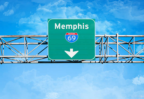memphis interstate 69 sign - number 69 stock photos and pictures