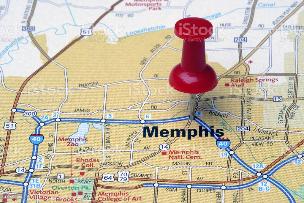 memphis on a map Memphis On A Map Stock Photo Download Image Now Istock memphis on a map