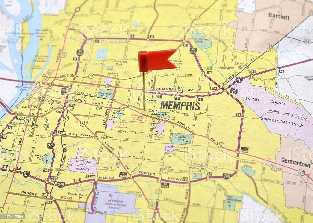 Memphis on the Map royalty-free stock photo