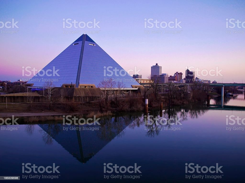 Memphis Pyramid Arena stock photo