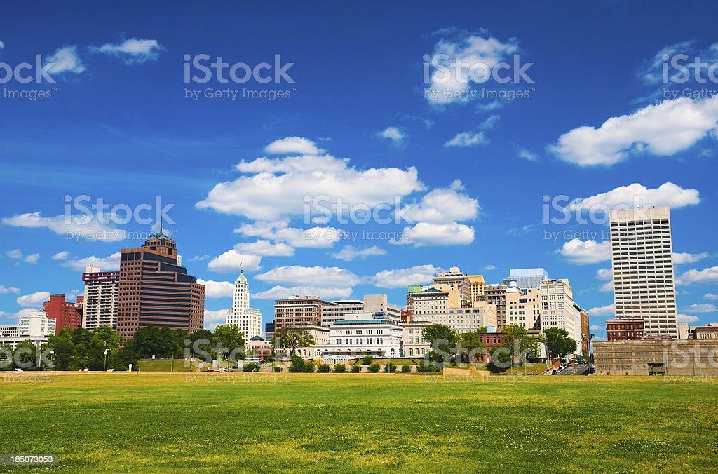 Memphis skyline and park stock photo