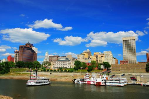Memphis skyline and river
