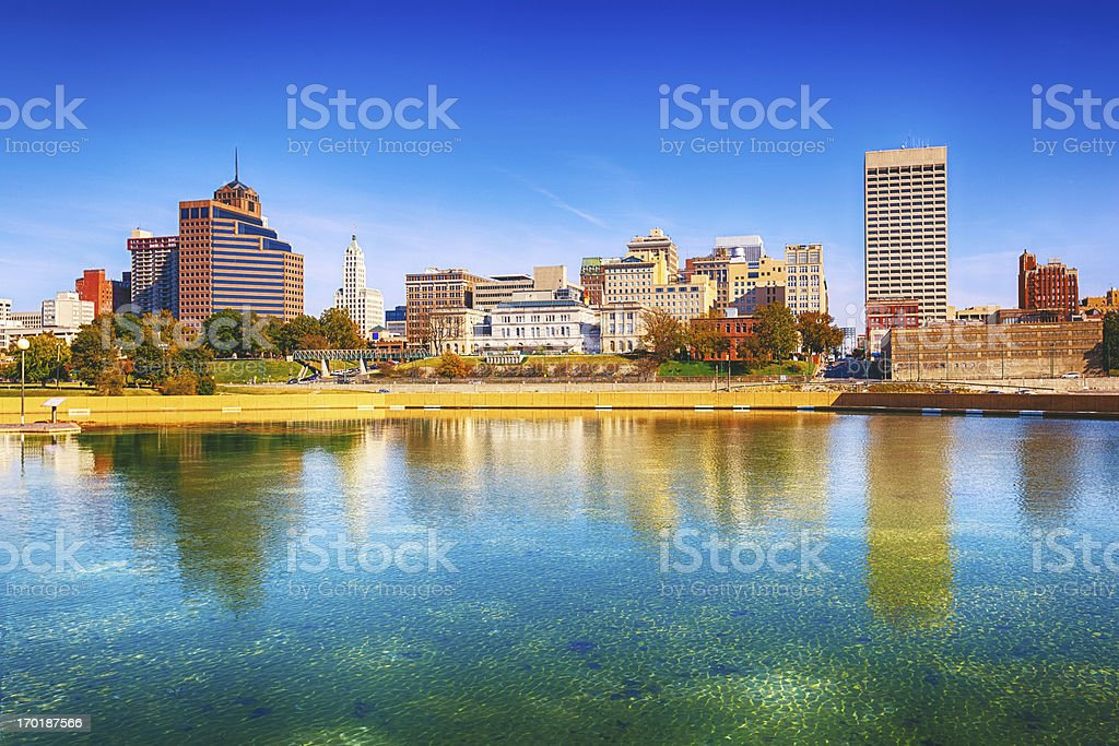 Memphis Skyline, Panoramic View stock photo