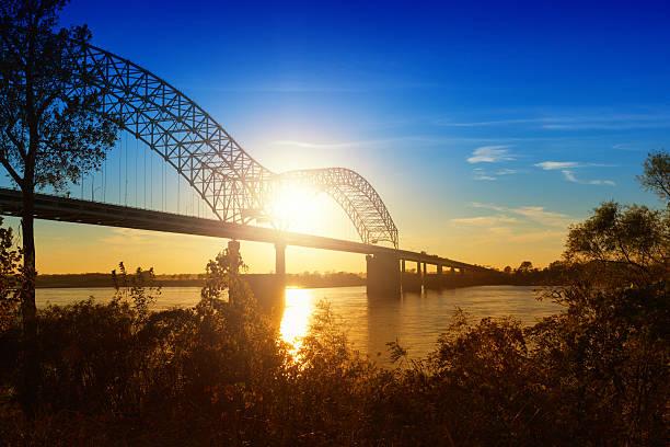 Memphis, Sonnenuntergang über den Mississippi River – Foto