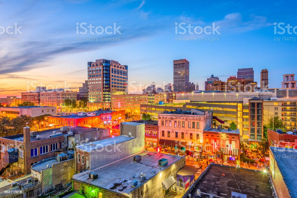 Memphis Tennessee Beale Street stock photo