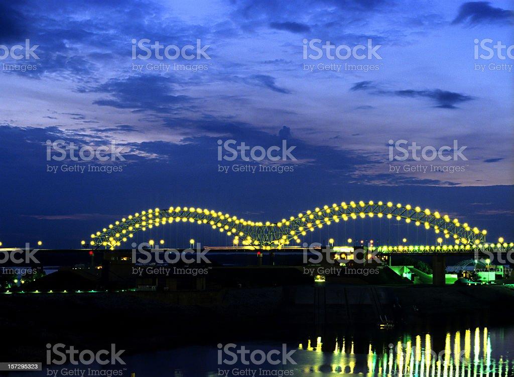 Memphis Tennessee bridge royalty-free stock photo