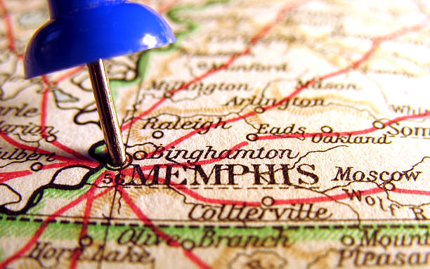 memphis, tennessee - tennessee map stock photos and pictures