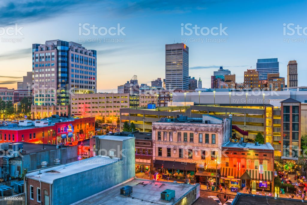 Memphis Tennessee Skyline stock photo