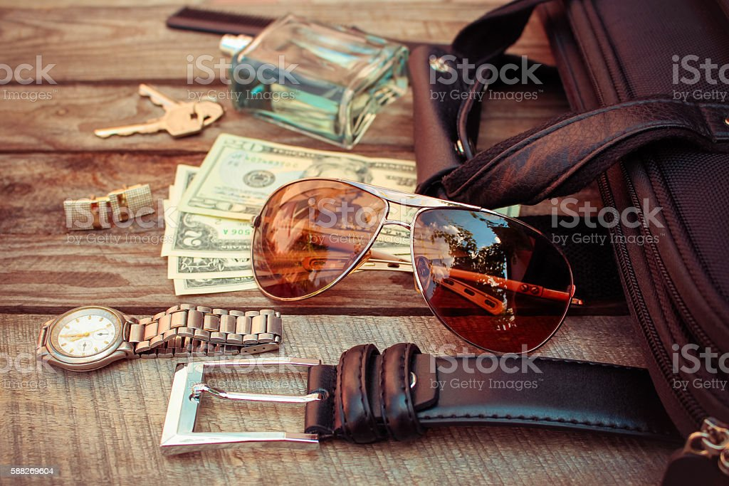 Men accessories stock photo