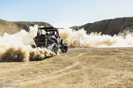 Active Group of Men and Boys Outdoor Fun ATV Rides and Shooting Activities in Western Colorado Desert Off-road Fun (Shot with Canon 5DS 50.6mp photos professionally retouched - Lightroom / Photoshop - original size 5792 x 8688 downsampled as needed for clarity and select focus used for dramatic effect)