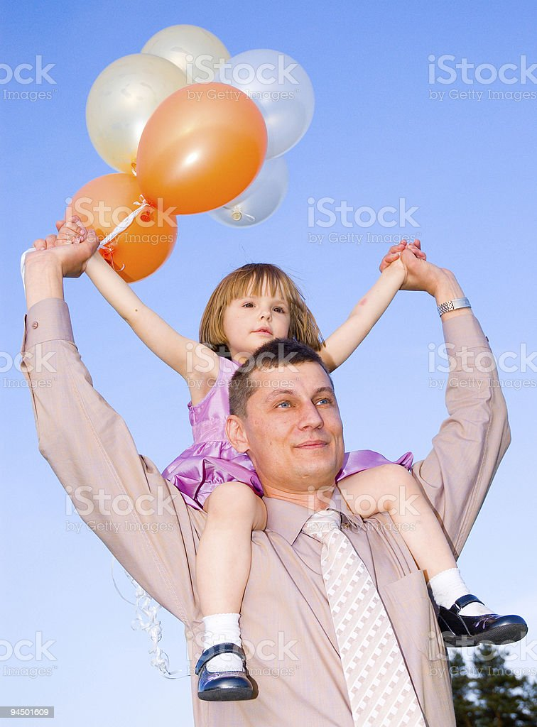 men and child royalty-free stock photo