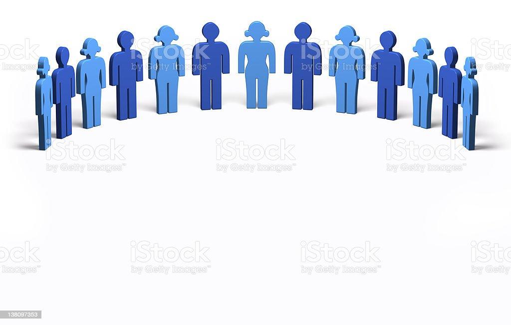 Men and Women Blue - Circle royalty-free stock photo