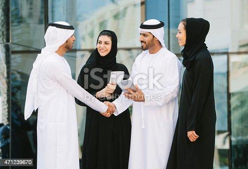 471250190istockphoto Men and women business networking 471239670