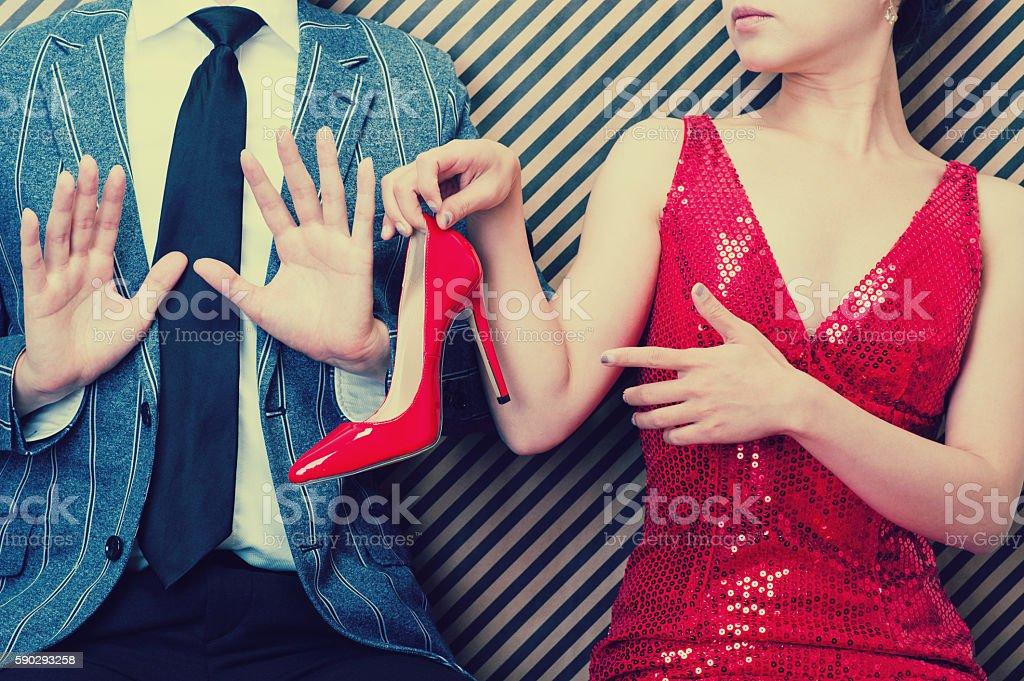 Мужчины и женщины спора Стоковые фото Стоковая фотография