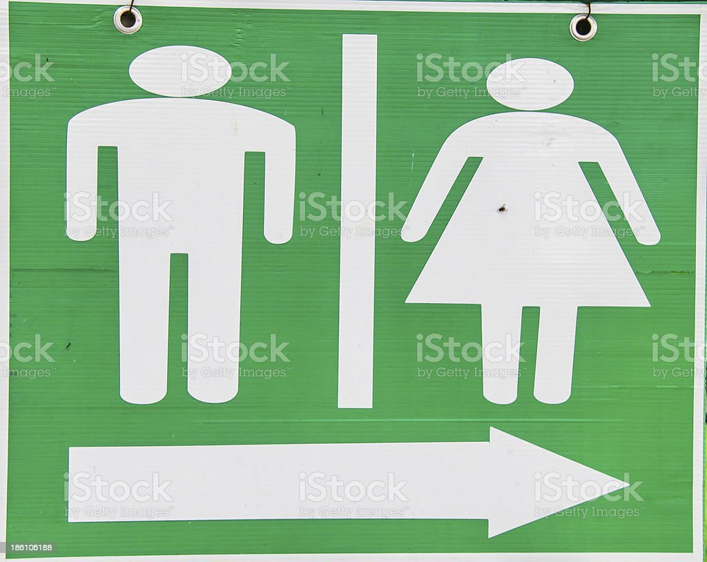 Men and Women Toilet Sign royalty-free stock photo