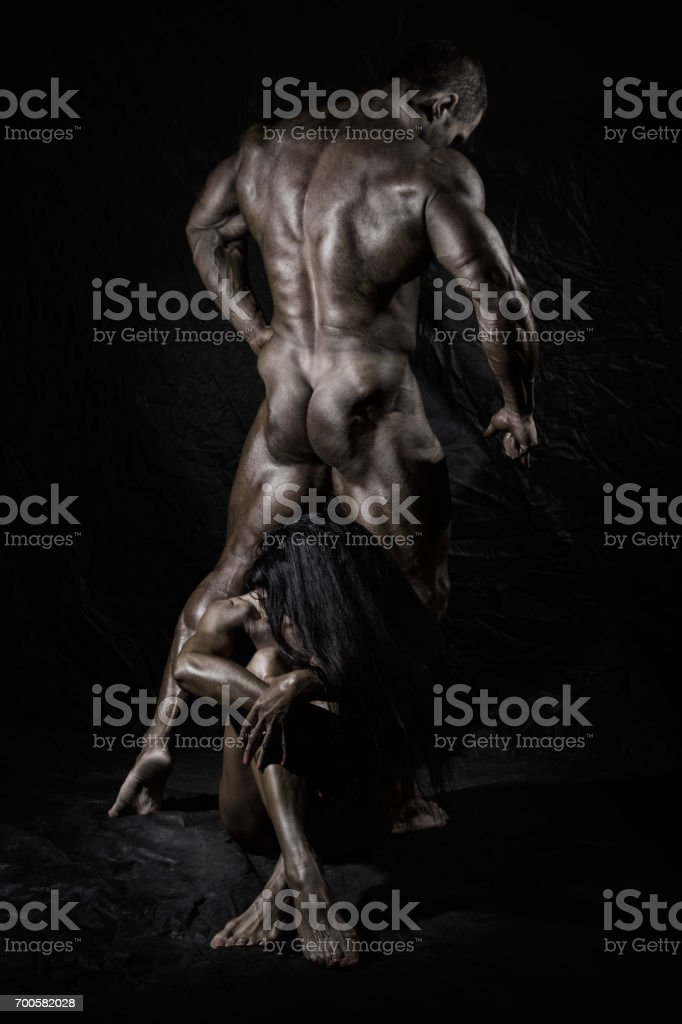 Men and women trained in the studio stock photo
