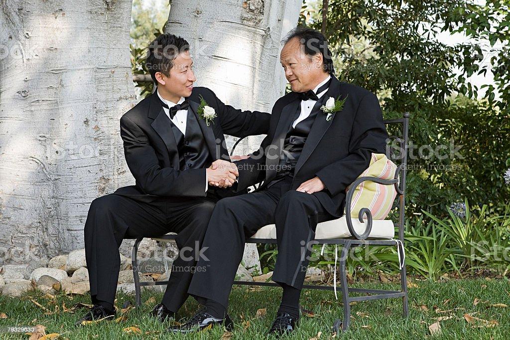 Men at a wedding royalty-free 스톡 사진