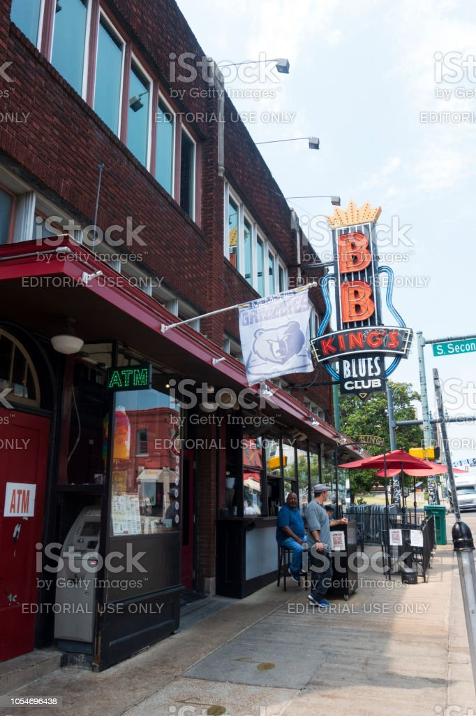 Men At The Entrance To Bb Kings Restaurant On Beale Street