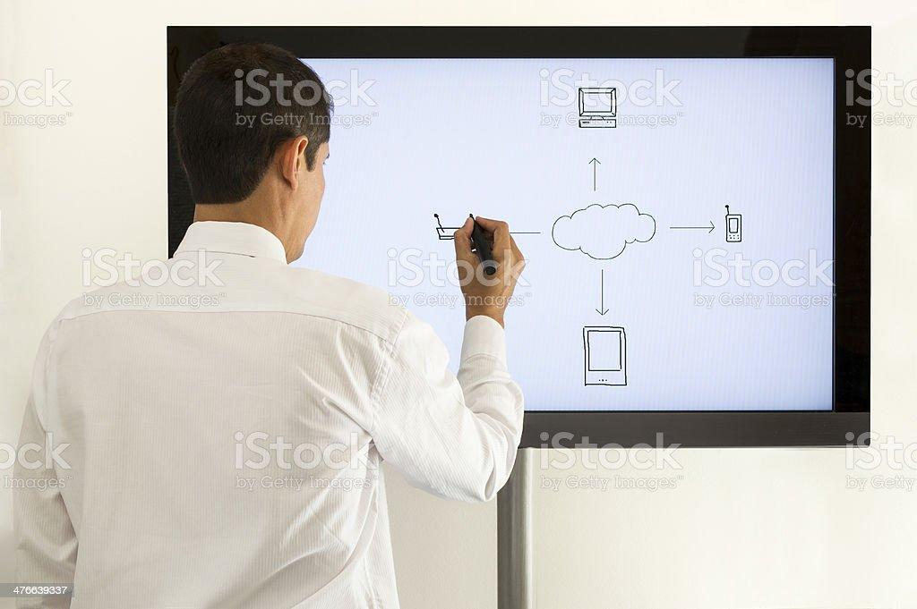 men drawn Internet royalty-free stock photo