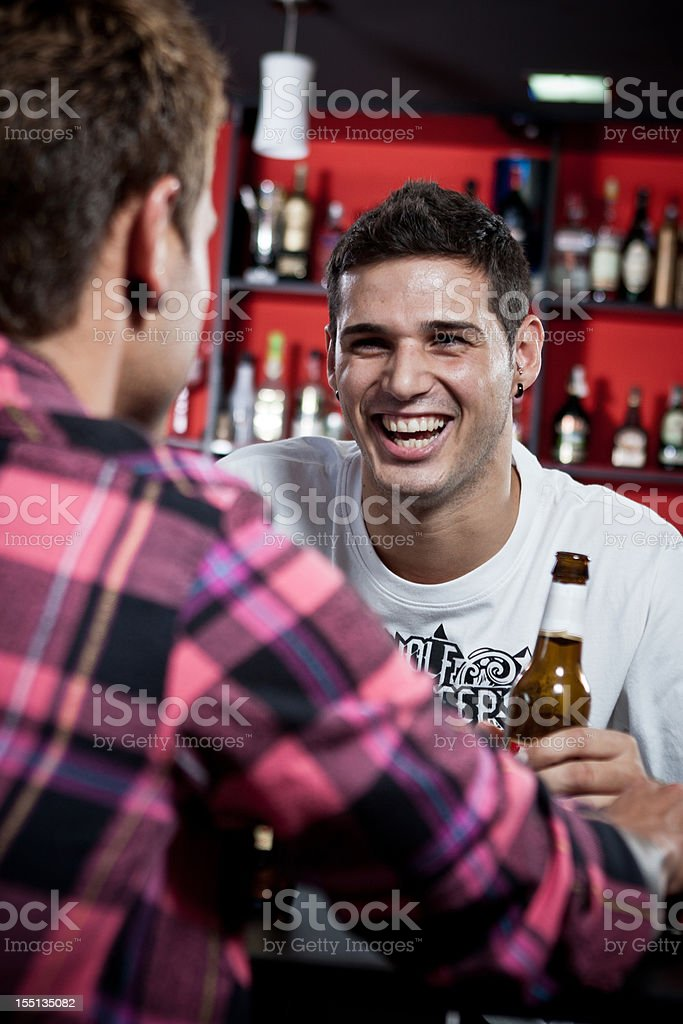 Men drinking in the bar. royalty-free stock photo