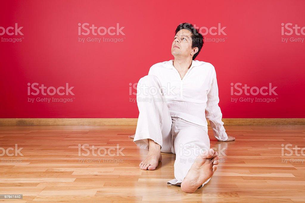 men enjoying the new house royalty-free stock photo
