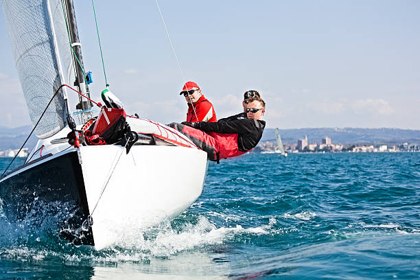 sport sailing - regatta stock-fotos und bilder