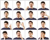 istock Men facial expressions set 949374286