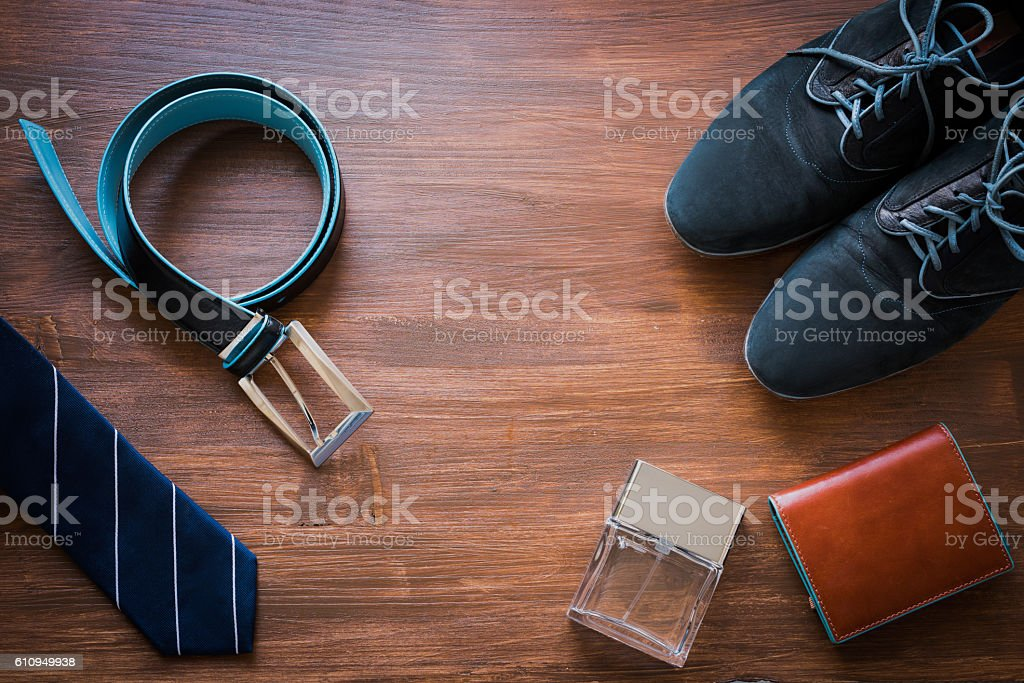 Men fashion accessories. Business look. stock photo
