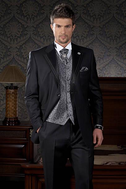 männer-mode - bräutigam anzug vintage stock-fotos und bilder